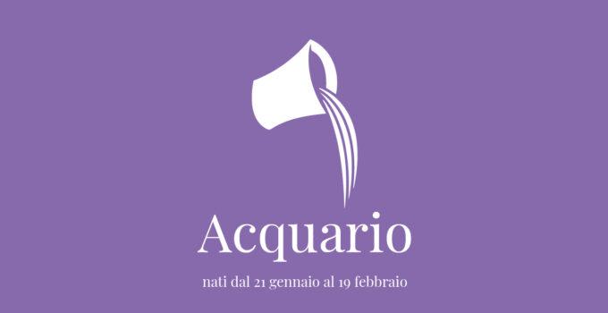 immagine segno zodiacale dell'acquario