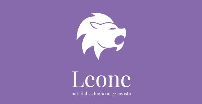 immagine segno zodiacale del leone